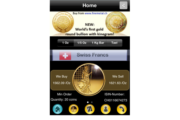 Gold_Coin_Android_Phone_App_home_Finemetal