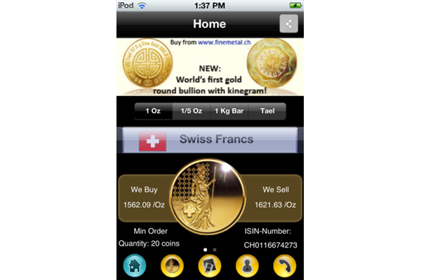 iGoldCoin_iPhone_App_home_Finemetal